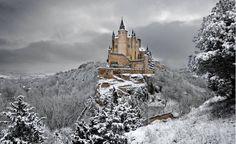 Alcazar in Segovia, Spain in winter...enchanting.