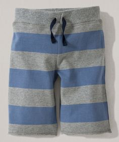 Look at this Blue Rugby Stripe Organic Boardshorts - Infant, Toddler & Boys on #zulily today!