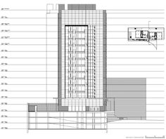 Agora Towers, Madrid. Drawing by allende arquitectos 2001