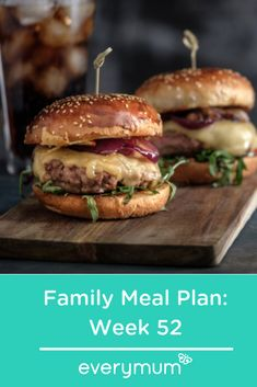 Or just looking for some family dinner inspiration? We have you covered with this great meal plan for the week ahead. Pasta, Steak, Salmon and these delicious gourmet burgers - you won't know which to cook first! Gourmet Burgers, Burger Recipes, Family Meal Planning, Family Meals, Keep Recipe, Asian Chicken Salads, Budget Meals, Quick Easy Meals, Food Inspiration