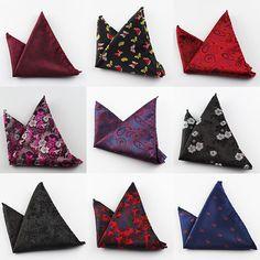 Paisley Silk Handkerchiefs Woven Animal Pattern Hanky Men's Business Casual Square Pockets Handkerchief Wedding Hankies