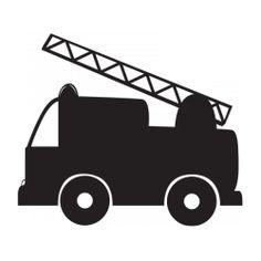 Sticker ardoise camion pompier Machine Silhouette Portrait, Sissi, Early Education, Felt Crafts, Silhouettes, Cricut, Nursery, Clip Art, Fire