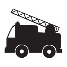 Sticker ardoise camion pompier