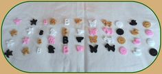 Handmade 44 buttons* duck* dog* cat* starfish* butterfly*sun*turtle*cup*B letter