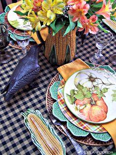 Olla-Podrida: Crow & Corn Tablescape