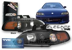 Matrix Racing- Euro Altezza Tail Lights, Clear Projector ...