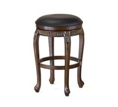 Fleur De Lis Backless Swivel Bar and Counter Stool