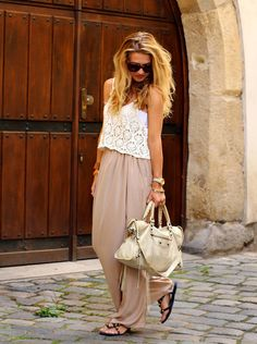 loving the maxi skirt and crop top look for this summer.