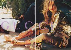 Gucci - Mario Testino - Hana Soukupova - 2004SS - ad  campaign -  fashion ads