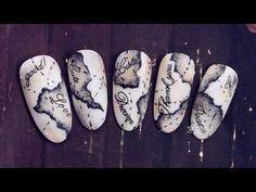 2017 New Nail Art, the Best Top Nail Designs&Ideas! Nail Art Designs Videos, Nail Art Videos, New Nail Art, Cool Nail Art, Map Nails, Disney Acrylic Nails, Vintage Nails, Vacation Nails, Fire Nails