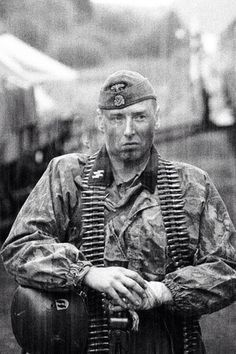 Waffen SS Soldier Possibly the Eastern Front, Was hell for the Germans over there.