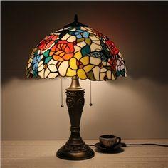 テーブルランプ ステンドグラスランプ 卓上照明 2灯