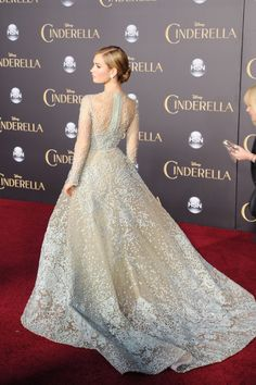 #ElieSaab #Spring2015 #Couture | Lily James at the Cinderella premiere