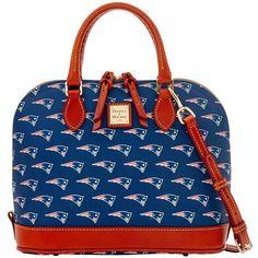 8e4e43533109 Dooney  amp  Bourke Women s New England Patriots Zip Satchel (555 BRL) ❤  liked
