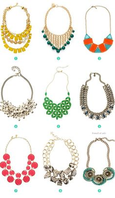 Statement necklaces !