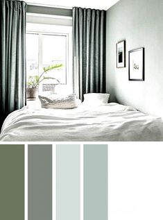 Bedroom Colour Palette, Bedroom Color Schemes, Master Bedroom Color Ideas, Best Colour For Bedroom, Sage Color Palette, Apartment Color Schemes, Bedroom Ideas, Bedroom Decor For Couples, Couple Bedroom