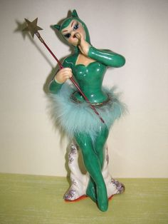 Lady Krampus in green Vintage Barbie, Retro Vintage, Vintage Decor, Vintage Items, Retro Apartment, Art Deco Living Room, The Devil's Advocate, Lucky Colour, Barbie And Ken