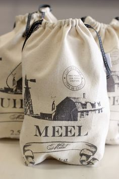 Beautiful bags for Coffee, Flour & Sugar & more.