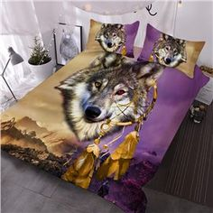 Indian Wolf Animal Comforter Soft Comforter Sets with 2 Pillowcases Room Design Bedroom, Bedroom Ideas, Bedroom Decor, Wolf Pack Quotes, Indian Wolf, Wolf 3d, Cute Blankets, Wolf Spirit Animal, Wolf Love