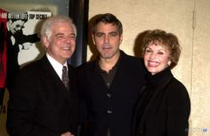 "Nick Clooney, son George Clooney and Stepmother at the premiere of Miramax's ""Confessions of a Dangerous Mind"" at the Mann Bruin Theater, Westwood, CA 12-11-02"