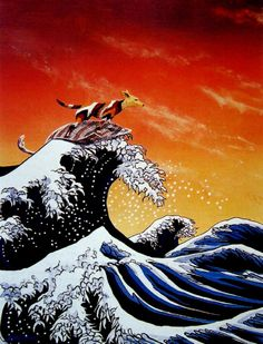 The Great Wave Appropriated Indigenous Australian Art Indigenous Art Hokusai Great Wave