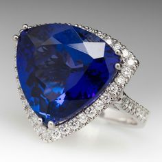 Genuine tanzanite  with diamond