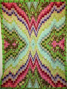 "Bargello Quilt Top 53"" x 68"""