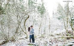 Winter + Snow + Couple + Photography