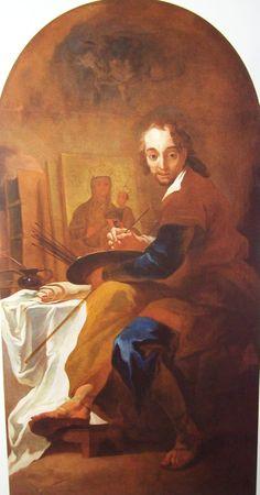 Josef Winterhalder the Younger. St Luke the Evangelist painting the Virgin. Luke The Evangelist, Mario, St Luke, Painting, Idea Paint, Paintings, Draw, Drawings