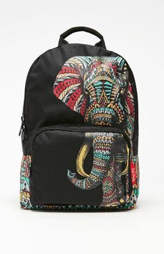 Riot Society Ornate Elephant School Backpack - Womens Backpack - Black - One from PacSun. Bags For Teens, School Bags For Girls, Hobo Purses, Purses And Bags, Backpack Purse, Black Backpack, Mochila Jansport, Back To School Backpacks, Back Bag