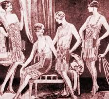 Flappers of the roaring 20s with bobbed hair