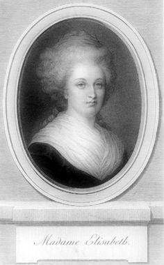Isabel de Francia (1764-1794), Princesa francesa, la hermana menor del rey Luis XVI de Francia (1754-1793), a consecuencia de la Revolución Francesa de 1789 fue encarcelada y más tarde juzgada por un tribunal revolucionario que le condenó a la guillotina #miercolesretratos #EnciclopediaLibre (Public Domain)