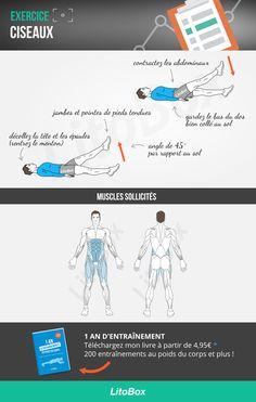 ciseaux exercice musculation : technique