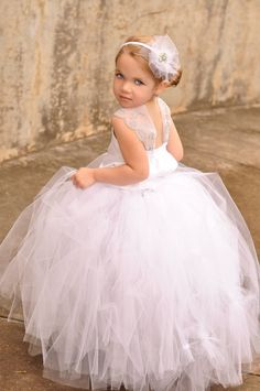 Flower girl tulle headband