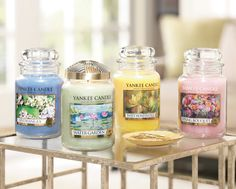 4 fragrances back for a limited time! Click the candles to see all our treasures online