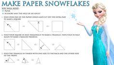 Disney's Frozen FREE Printable: How to Make a Paper Snowflake