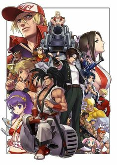 """""""SNK Anniversary Fan Book"""" Now Up For Pre-Order, Cover Illustration by Eisuke Ogura Art Of Fighting, Fighting Games, Manga Anime, Anime Art, Geeks, The Way Movie, Snk Games, Snk King Of Fighters, Ryu Street Fighter"""