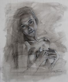 I really enjoy drawing in charcoal and came across a photo of Alexis Ren. I think she is absolutely beautiful.