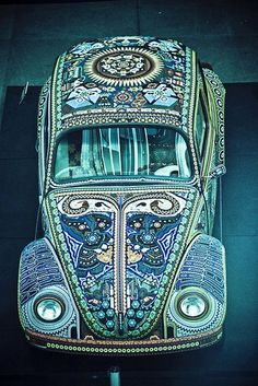That's a LOT of tiles on this VW bug.