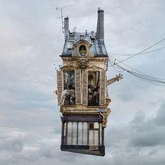 Flying Houses by LAURENT CHEHERE Bogota Photo Festival