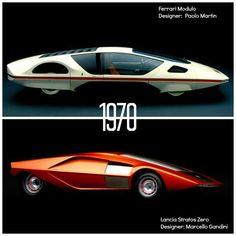 Ferrari Modulo and Lancia Stratos Zero Old Sports Cars, Sport Cars, Ferrari, Retro Cars, Vintage Cars, Future Concept Cars, Futuristic Cars, Car Wheels, Car In The World