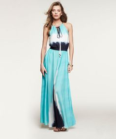 My 2nd favorite look tonight on #fashionstar :) ready for summer!?! //// HALTER MAXI DRESS | Express