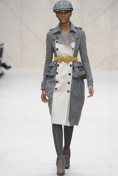 Burberry Prorsum --- Not sure how the placement of pockets will translate to sales figures, but this is so polished and cute at the same time.