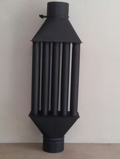 Wood burning stove heat exchanger radiator 30% less fuel consumption and heat retention