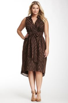 30e8adf3a4105 Donna Ricco Printed Hi-Lo Dress - Plus Size Plus Size Fall Fashion