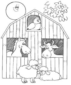 Farm Animal Coloring Pages | Mother hen sitting on her nest Coloring ...