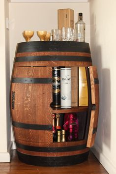Wine barrel drinks cabinet https://www.facebook.com/oakbarrelcreations.uk