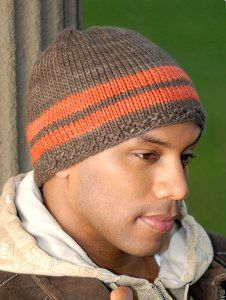 Simple striped hat knitting pattern for purchase.