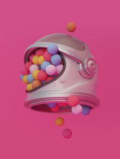 "UENO - ""Space Balls"" on Behance"