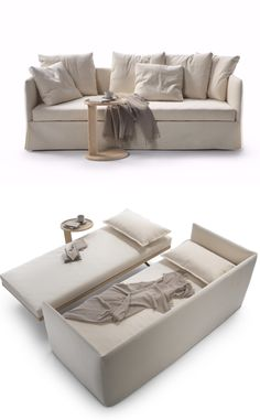 TWINS Fabric #sofa bed with removable cover by @flexform  | #design Giulio Manzoni
